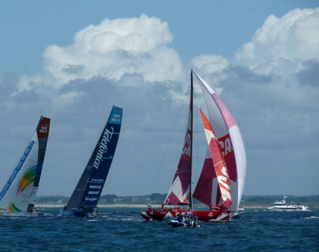 Camper beim Inport-Race in Lorient
